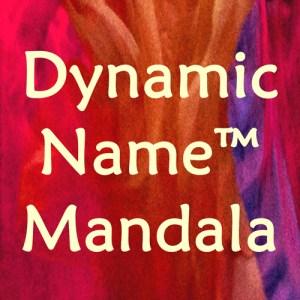 Dynamic Name Mandala by Marta Stemberger
