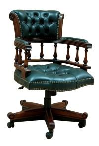 Captain Swivel Desk Chair   Hampshire Barn Interiors
