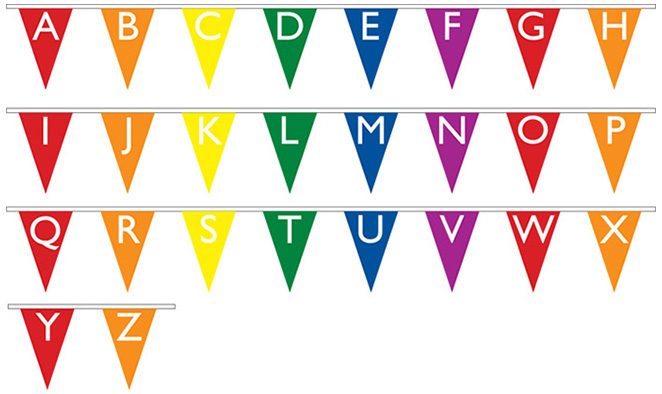 Jumble Best Word Puzzle Game Jumble Daily Classic Printable Alphabet Bunting Ruffled Party Invitations Ideas