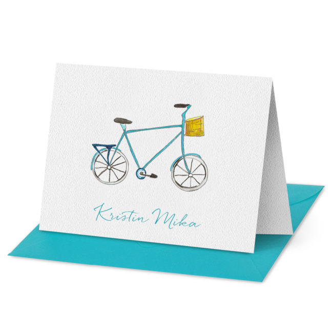 Fold Over Note Cards - Bicycle - Hampton Paper Designs