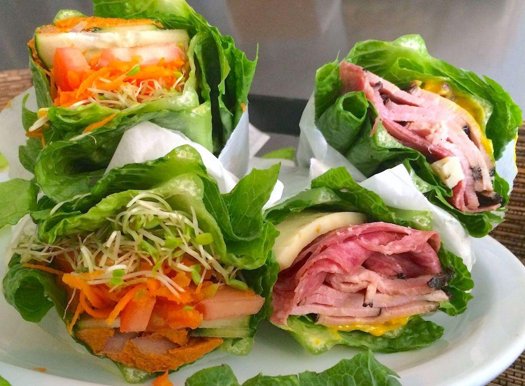 Hana Picnic lunch Lettuce Wrap Sandwiches