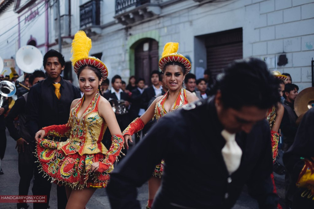 Girls in costume san juan de dios sucre bolivia