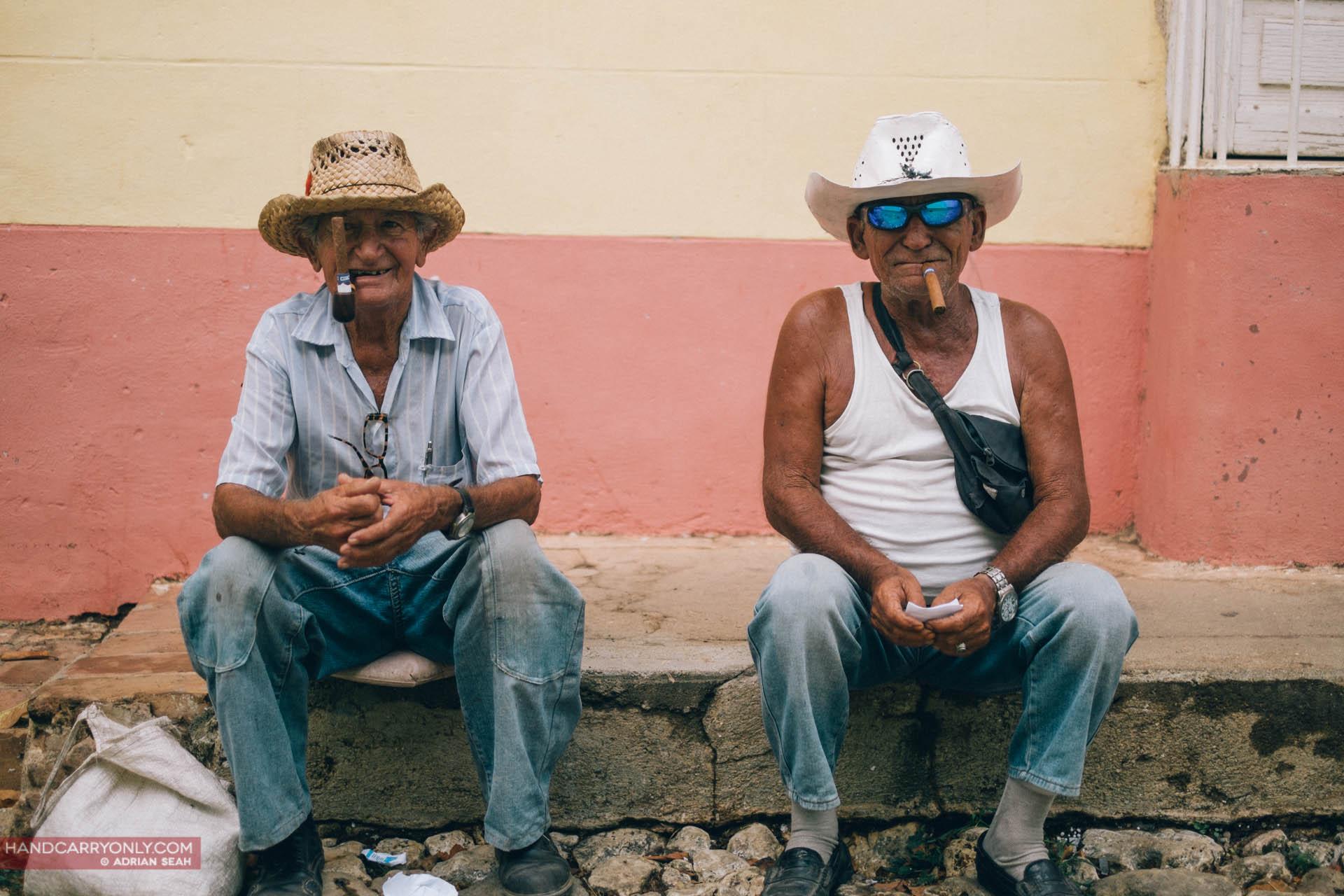 two old men with cigars trinidad cuba