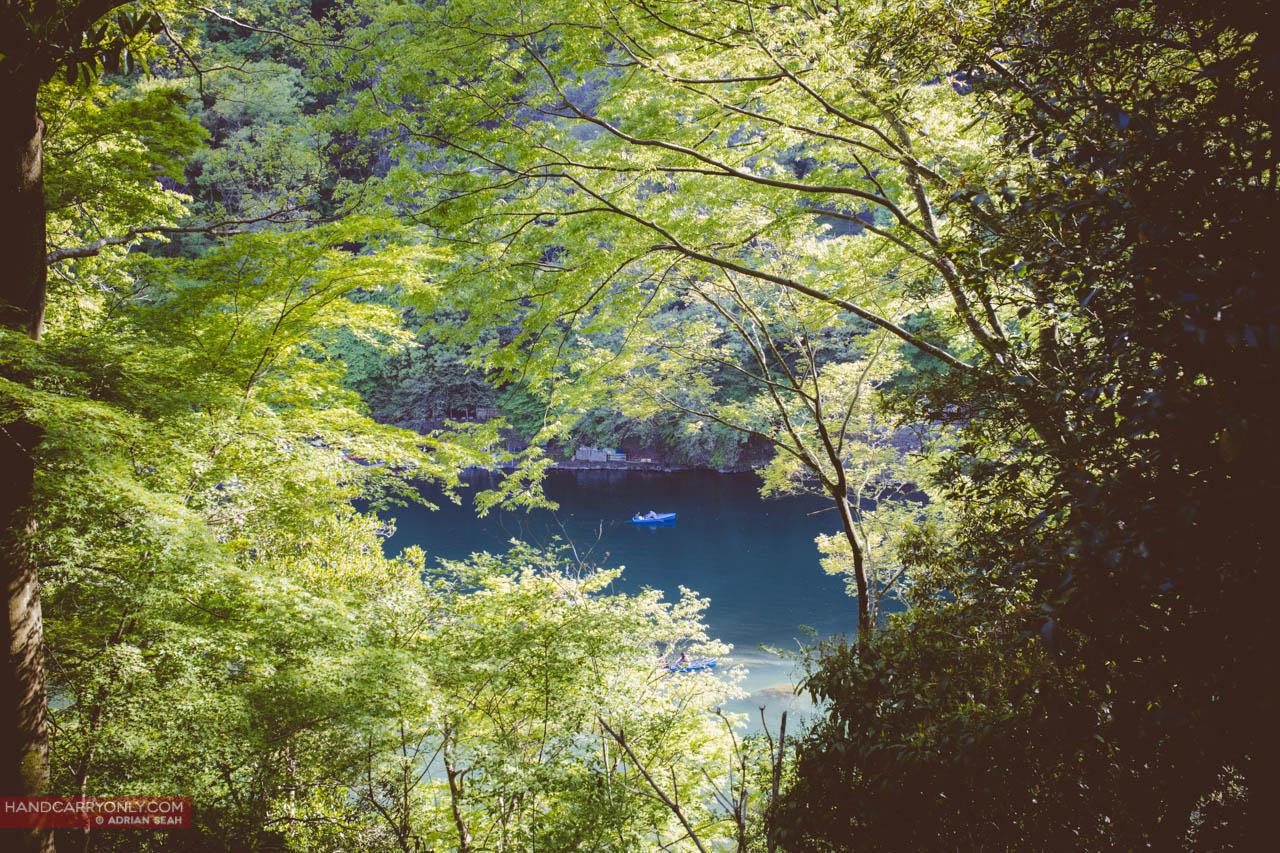 river in arashiyama japan
