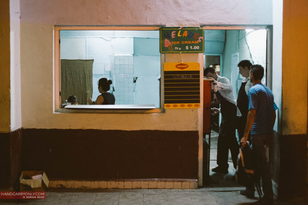 vanilla ice cream stall havana cuba