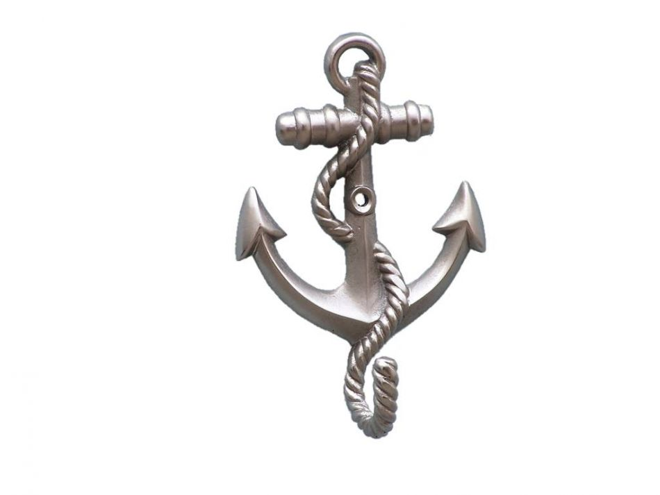 Wholesale Brushed Nickel Anchor With Rope Hook 5