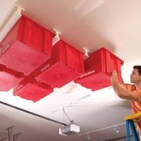 How to Make Garage Ceiling Sliding Storage - DIY & Crafts ...