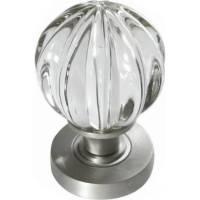 Frelan JH5202SCP - satin chrome pumpkin glass door knobs