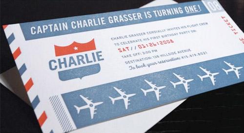 Airline Ticket Invitation ⋆ Handmade Charlotte