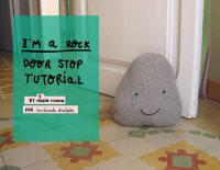 DIY Friendly Rock Doorstop  Handmade Charlotte