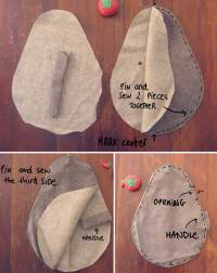 DIY Friendly Rock Doorstop