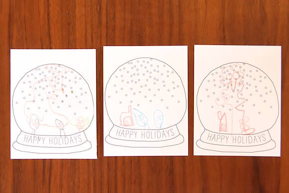 christmas card template for kids