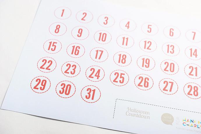 Halloween Countdown Calendar ⋆ Handmade Charlotte