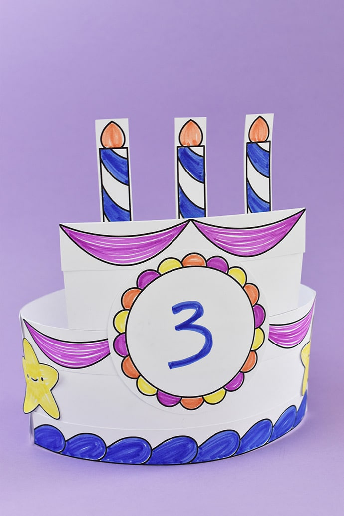 Printable Birthday Cake Crown ⋆ Handmade Charlotte