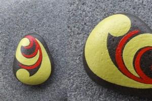 koru hand painted rock