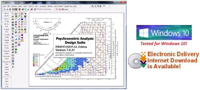Psychrometric Calculator Chart Analysis Software Program for Engineers