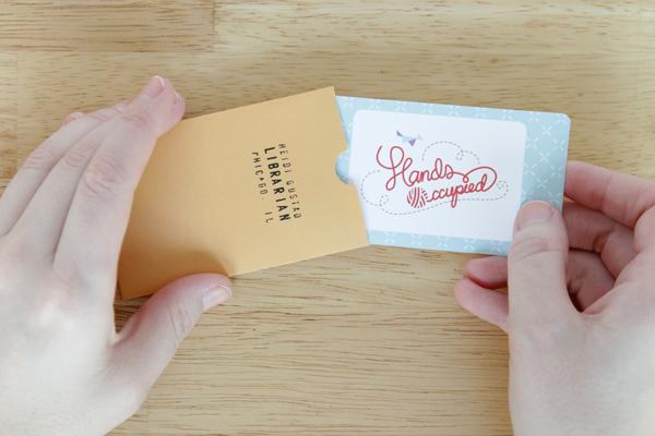 DIY Business Card Envelopes