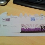 Die Netzclub-Karte und der Willkommens-Brief kamen in diesem Umschlag an.