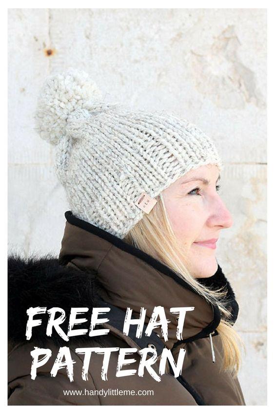 Knit Hat PatternsThe Athena Hat Free Knitting Patterns Handy