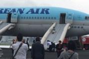Korean Air med brann i motor under avgang