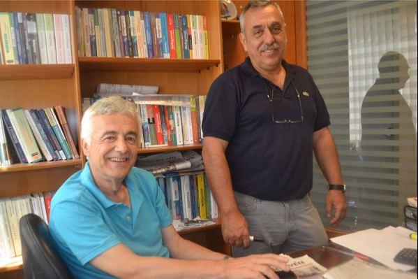 """Γ. Σινάνης -αριστερά- και Γ. Καρμπαδάκης στο """"Μεθοδικό"""""""