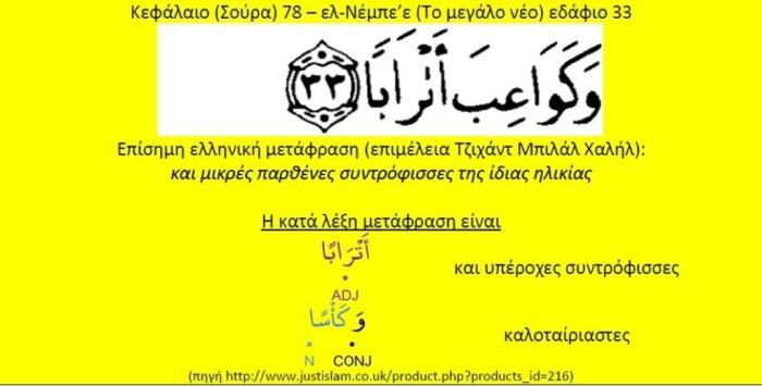 Το μεταφραστικό λάθος στο Κοράνι οφείλεται στη χρήση της ισλαμικής παράδοσης (χαντάθ)
