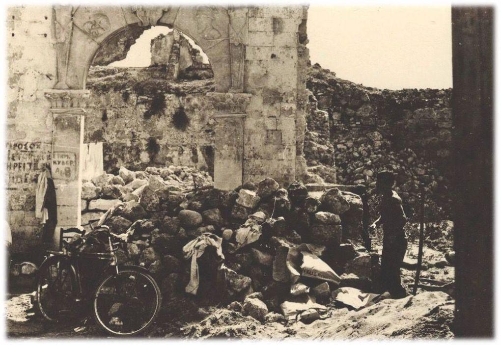 O,τι απόμεινε από το μέγαρο των Τζαγκαρόλων στο Καστέλι (φωτ. 13η ΕΒΑ).