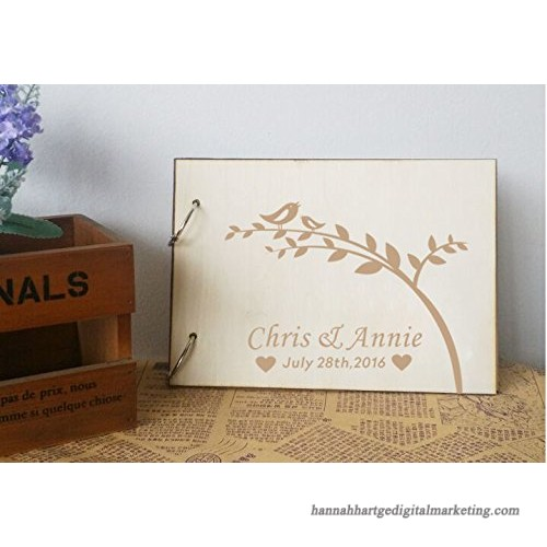Personalized Wedding Guest Book Rustic Wedding Guestbook Album