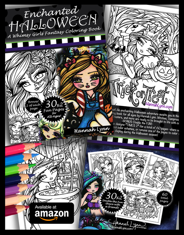 Enchanted Halloween Coloring Book AVAILABLE NOW!! - Hannah Lynn Art