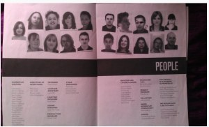 A photo of the actual programme from the first festival, by Alex Walsh
