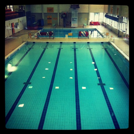 a photo of the pool, empty