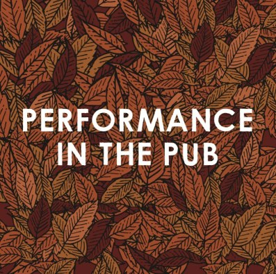 Performance in the Pub on a background of fallen leaves