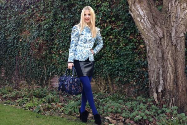 Roberto Cavalli Angels blazer & Gina Tricot skirt