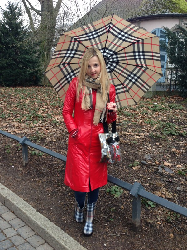 True Religion jeans & Burberry umbrella