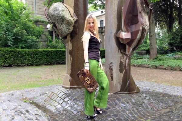 Calvin Klein pants & Braccialini bag