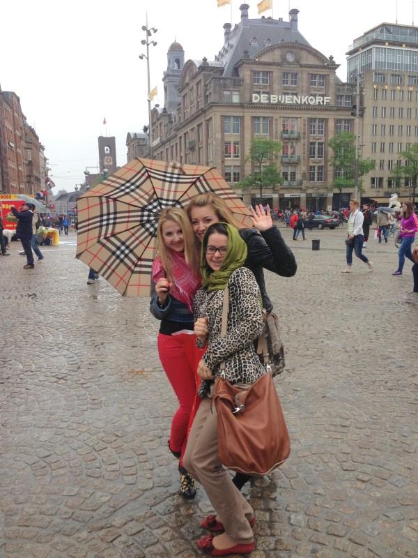 Amsterdam city & Burberry Umbrella