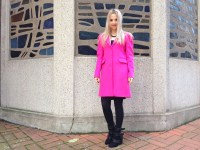 Pinko coat & Asos dress