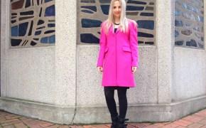 Pinko coat & Asos dress