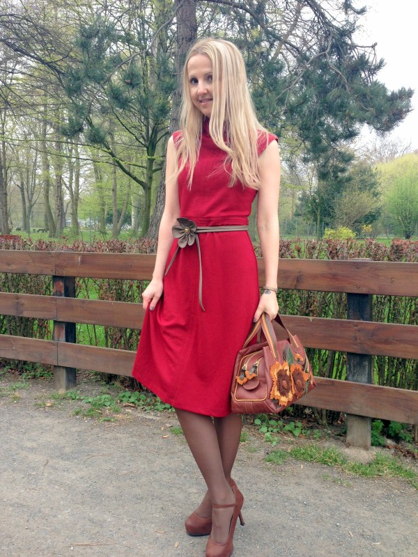 Braccialini bag & Koton dress