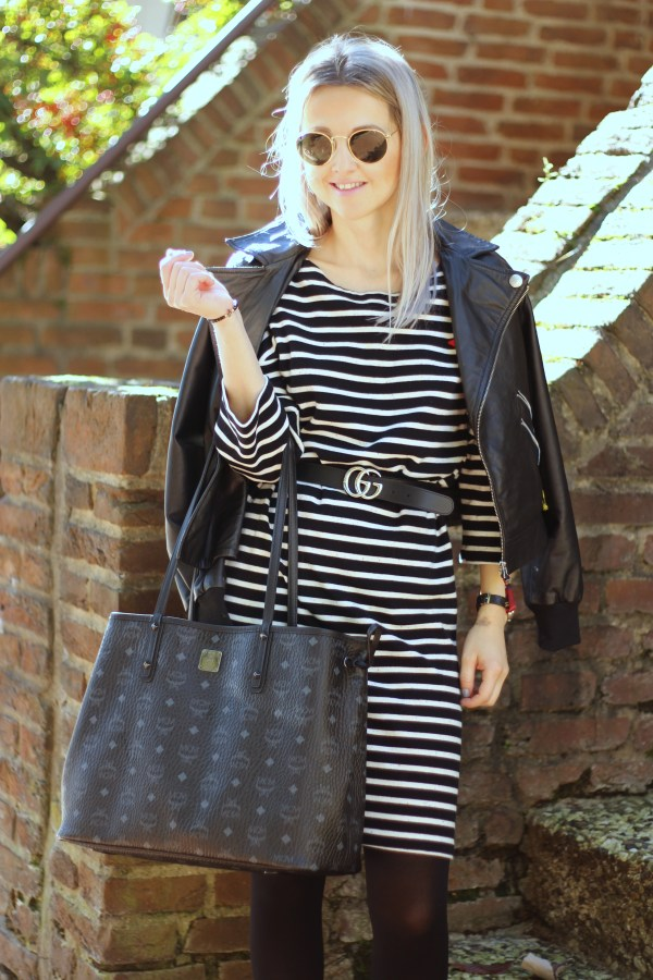 scotch & Soda Kleid, Gucci Gürtel, MCM Shopper, Modeblogger