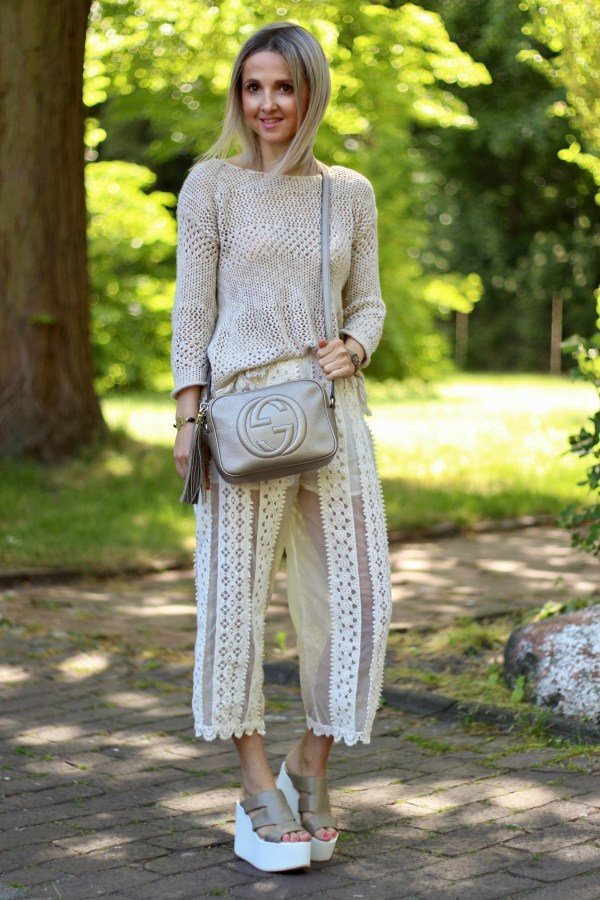 Gucci Soho Tasche, TWINSET Culotte, Promod Pullover, Modeblogger aus Hannover