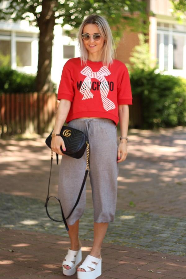 Moschino Sweatshirt, Gucci Marmont Tasche, Modeblogger aus Hannover