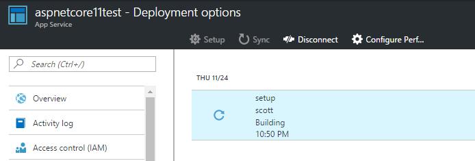 Deploying ASP.NET Core 1.1 to Azure