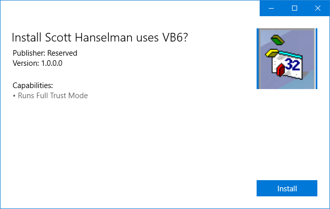 VB6 in the Windows Store