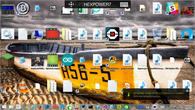 Remoted into my desktop at home with RDP
