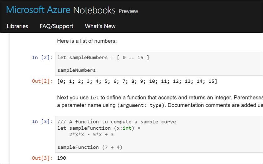 Azure Notebooks