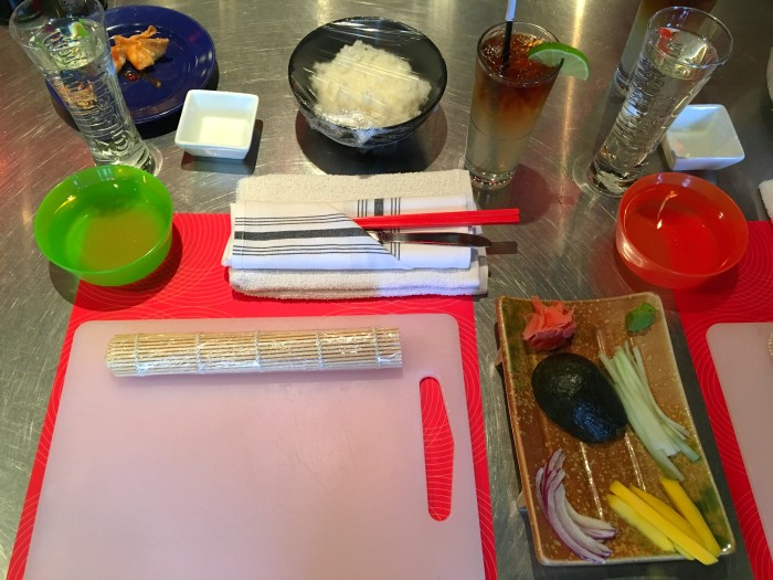 Sushi Making Class At Bottle Rocket In Castleberry Hill