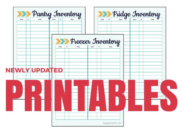 Fridge Freezer And Pantry Inventory Printables My