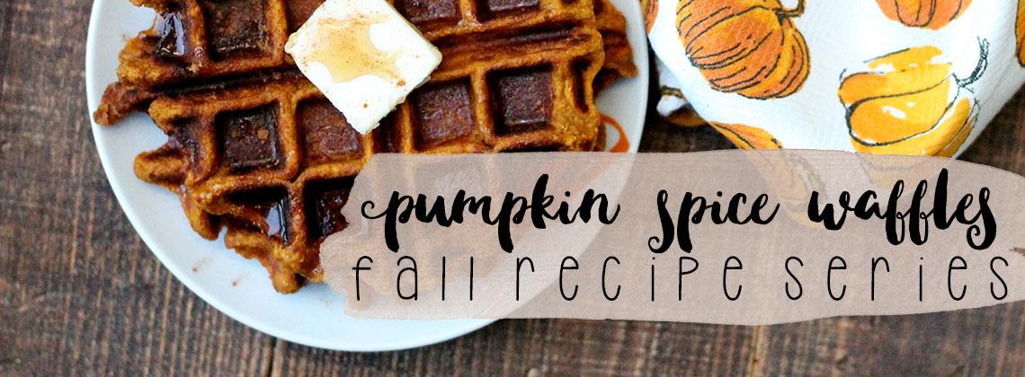 Pumpkin Spice Waffles | Fall Recipe Series