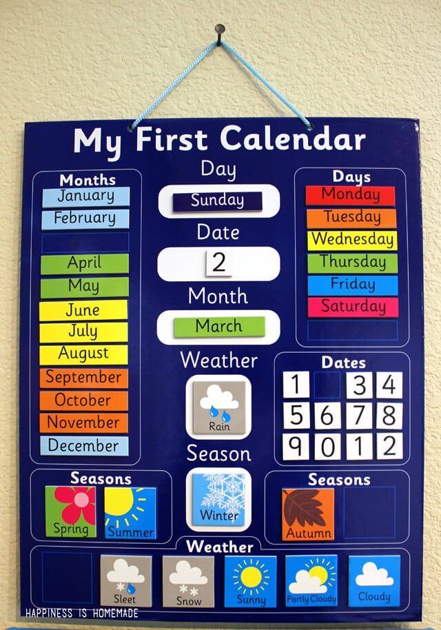 Daily Calendar Display Board Calendar Cullman County School System District Office Making Progress Our Homeschool Room Happiness Is Homemade